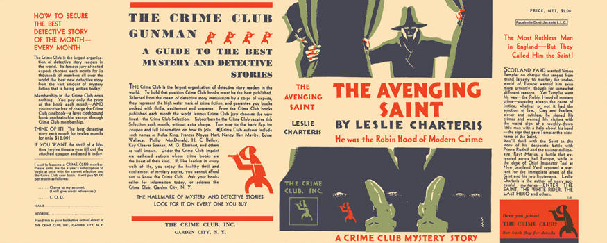 Avenging Saint, The. Leslie Charteris.
