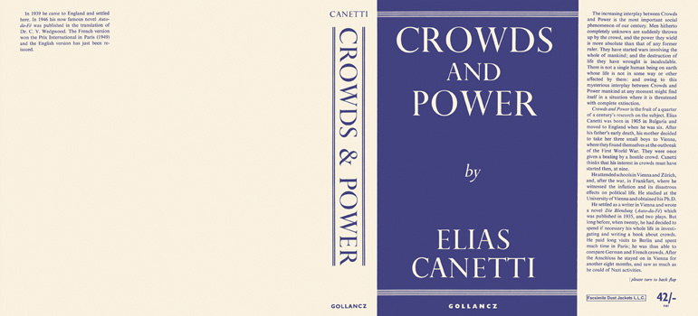 Crowds and Power. Elias Canetti