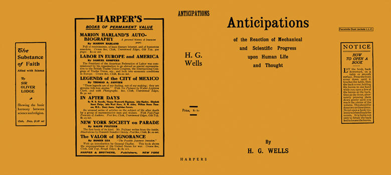 Anticipations. H. G. Wells