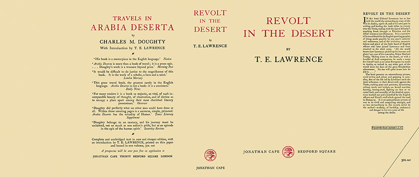 Revolt in the Desert. T. E. Lawrence.