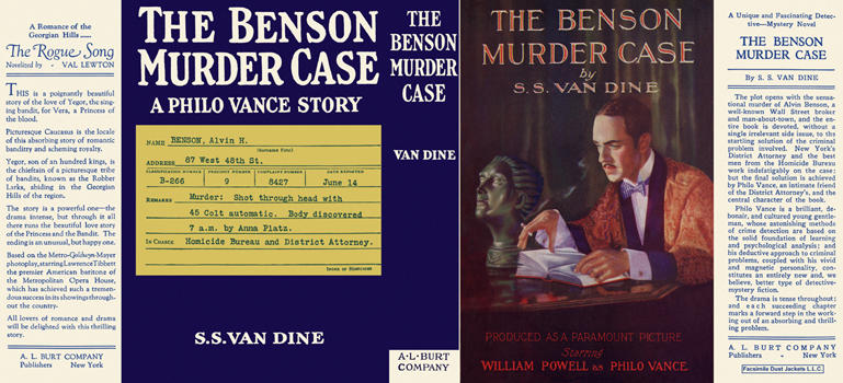 Benson Murder Case, The. S. S. Van Dine