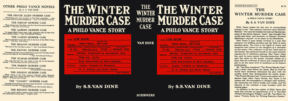 Winter Murder Case, The. S. S. Van Dine