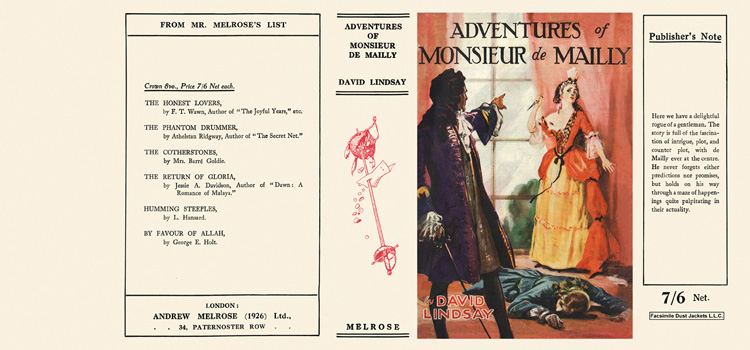 Adventures of Monsieur de Mailly. David Lindsay