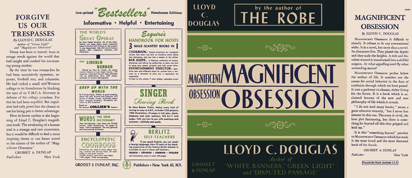 Magnificent Obsession. Lloyd C. Douglas
