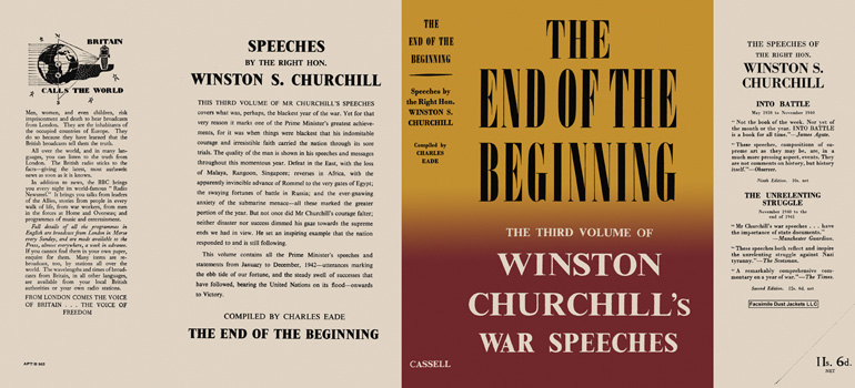 Winston Churchill's War Speeches, Volume 3, The End of the Beginning. Winston S. Churchill