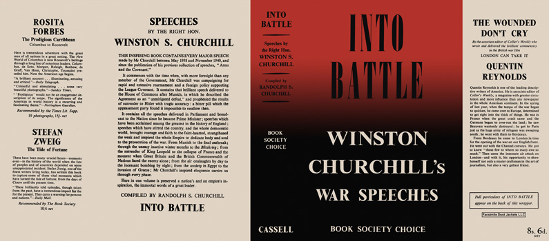Winston Churchill's War Speeches, Volume 1, Into Battle. Winston S. Churchill