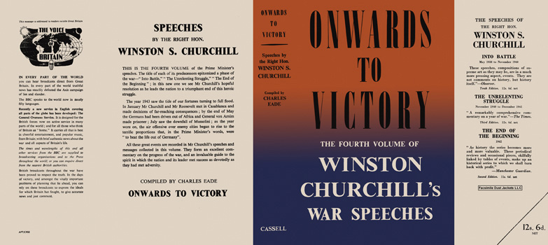 Winston Churchill's War Speeches, Volume 4, Onwards to Victory. Winston S. Churchill