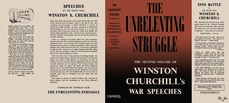 Winston Churchill's War Speeches, Volume 2, The Unrelenting Struggle. Winston S. Churchill