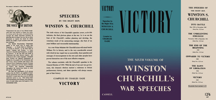 Winston Churchill's War Speeches, Volume 6, Victory. Winston S. Churchill