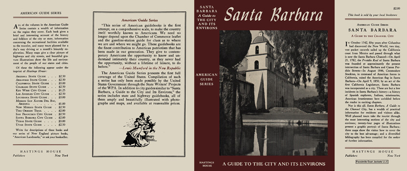 Santa Barbara, A Guide to the City and Its Environs. American Guide Series, WPA