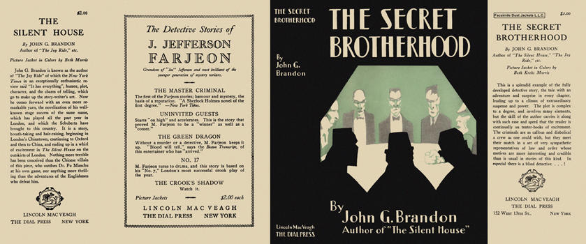 Secret Brotherhood, The. John G. Brandon.