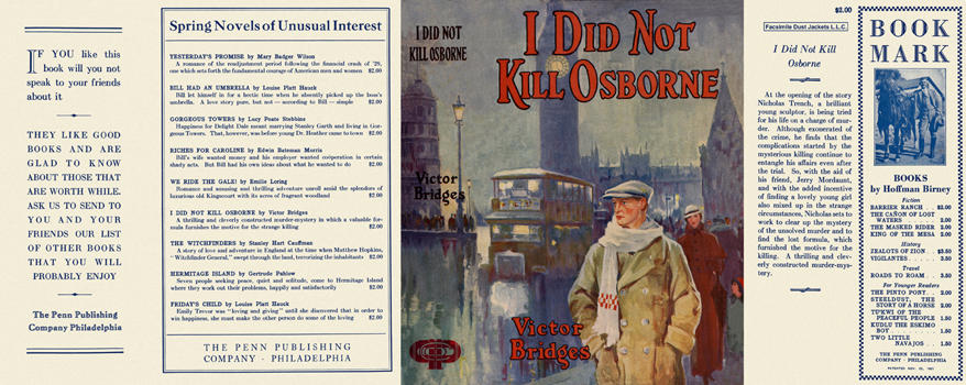 I Did Not Kill Osborne. Victor Bridges.