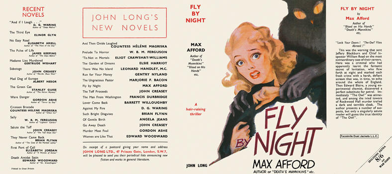 Fly by Night. Max Afford