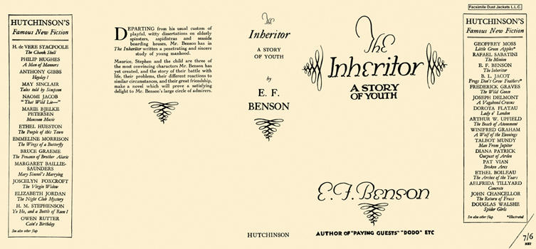 Inheritor, A Story of Youth, The. E. F. Benson