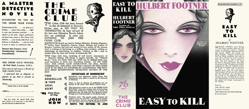 Easy to Kill. Hulbert Footner