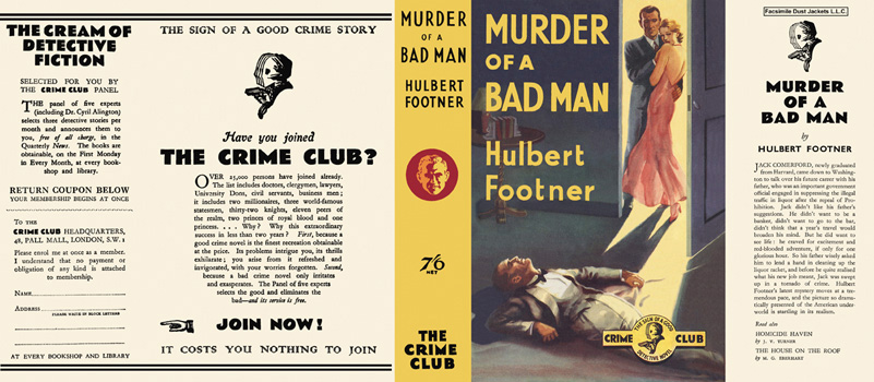 Murder of a Bad Man. Hulbert Footner