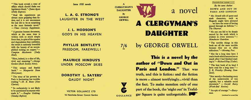 Clergyman's Daughter, A. George Orwell