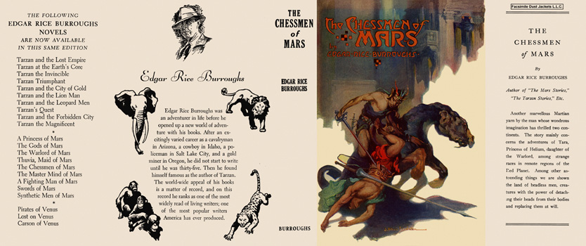 Chessmen of Mars, The. Edgar Rice Burroughs.