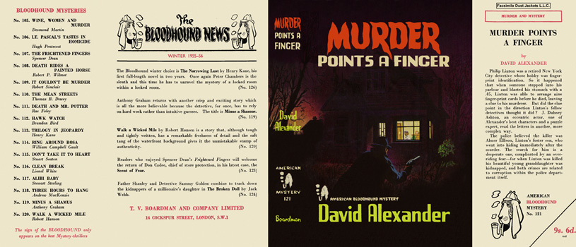 Murder Points a Finger. David Alexander