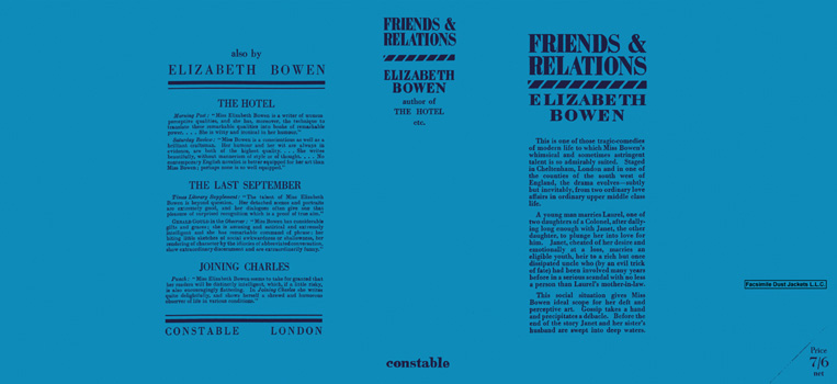 Friends and Relations. Elizabeth Bowen.