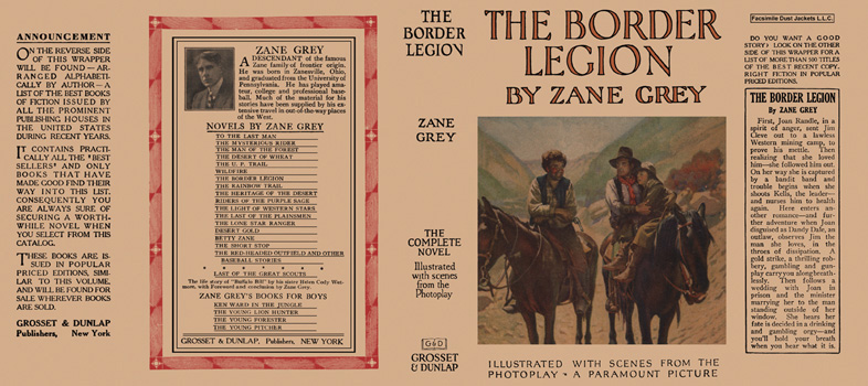Border Legion, The. Zane Grey