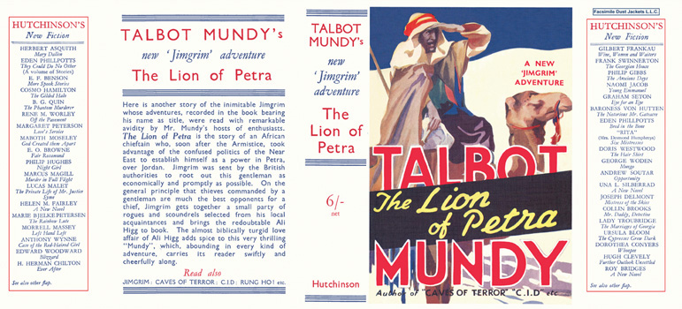 Lion of Petra, The. Talbot Mundy.