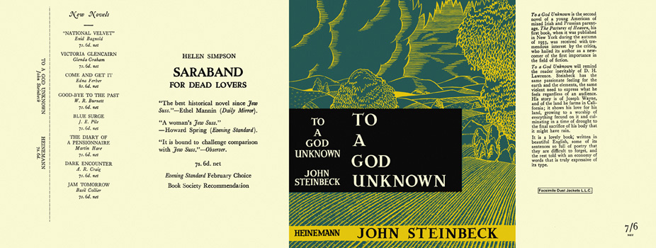 To a God Unknown. John Steinbeck.