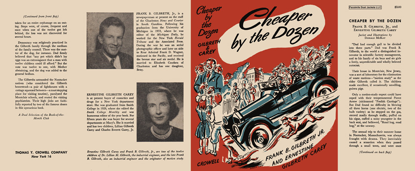 Cheaper by the Dozen. Frank B. Gilbreth, Ernestine Gilbreth Carey