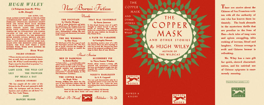 Copper Mask and Other Stories, The. Hugh Wiley.