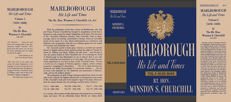 Marlborough, His Life and Times Volume I - 1650 - 1688. Winston S. Churchill.