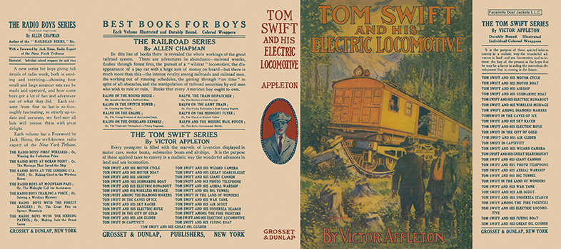 Tom Swift #25; Tom Swift and His Electric Locomotive. Victor Appleton.