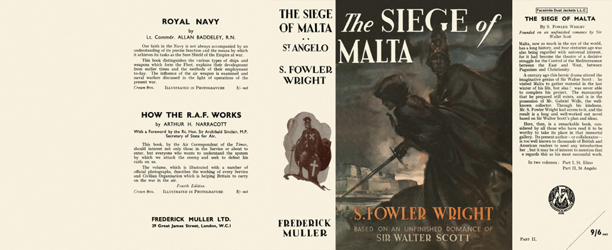 Siege of Malta, Part Two, St. Angelo, The. S. Fowler Wright.