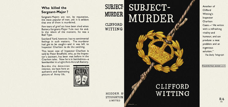 Subject - Murder. Clifford Witting.