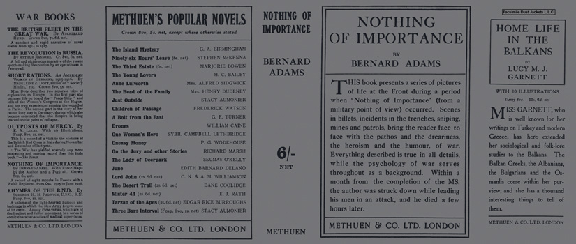 Nothing of Importance. Bernard Adams