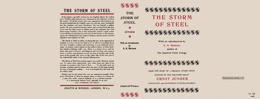 Storm of Steel, The. Ernst Junger