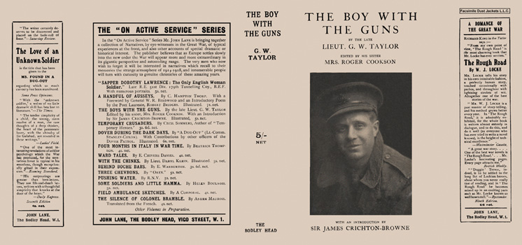 Boy with the Guns, The. G. W. Taylor, Mrs. Roger Cookson