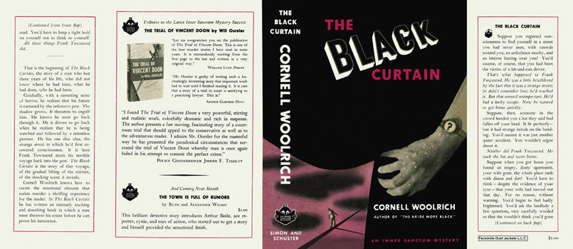 Black Curtain, The. Cornell Woolrich
