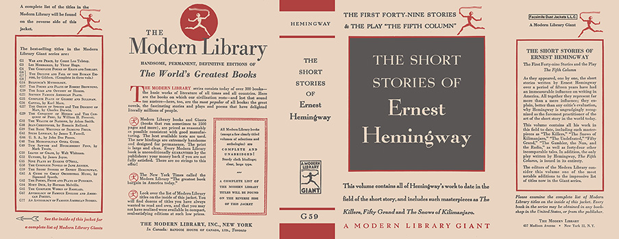 Short Stories of Ernest Hemingway, The. Ernest Hemingway.