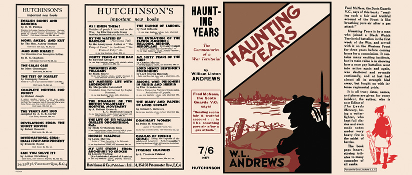 Haunting Years. William Linton Andrews