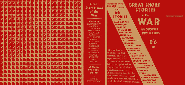 Great Short Stories of the War. Anthology