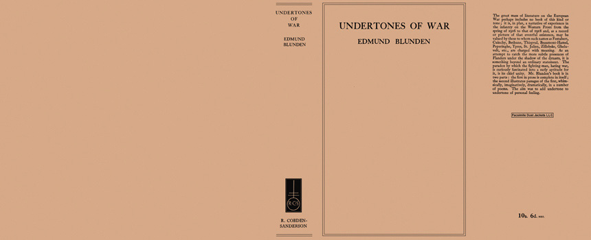 Undertones of War. Edmund Blunden