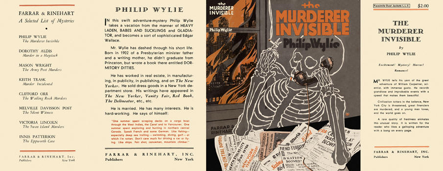 Murderer Invisible, The. Philip Wylie.