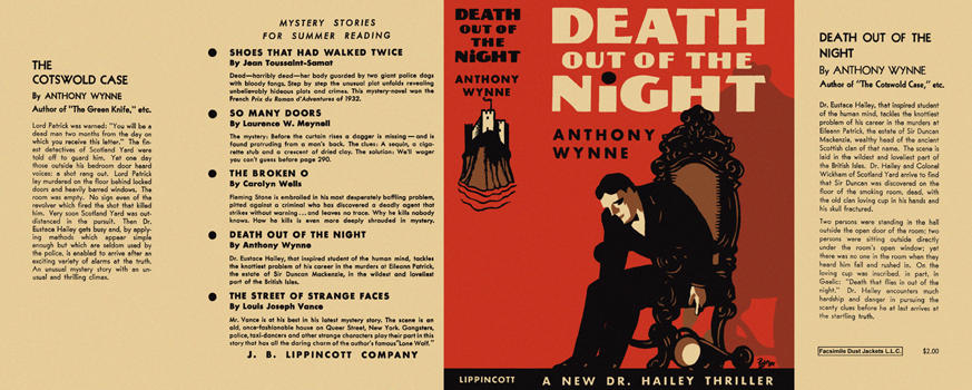 Death Out of the Night. Anthony Wynne.