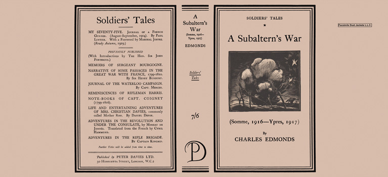 Subaltern's War, A. Charles Edmonds