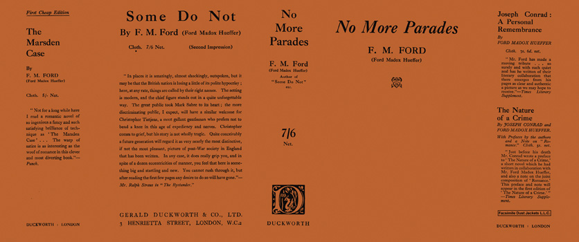 No More Parades. Ford Madox Ford