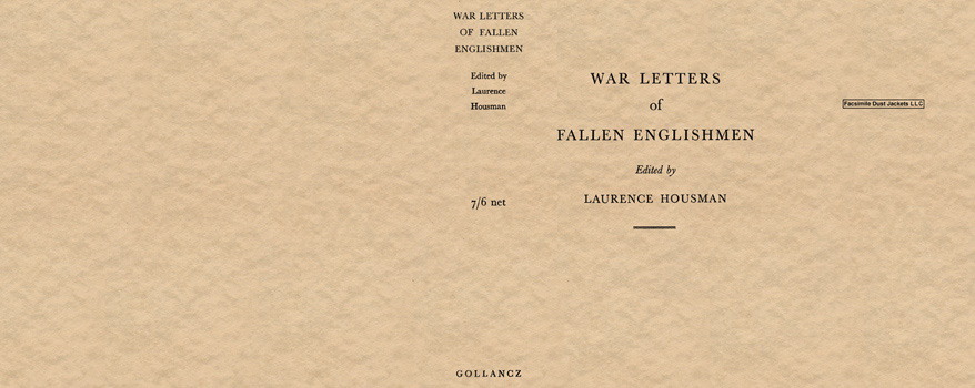 War Letters of Fallen Englishmen. Laurence Housman.
