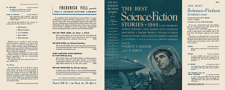 Best Science Fiction Stories 1949, The. Everett F. Bleiler, T. E. Dikty, Anthology.