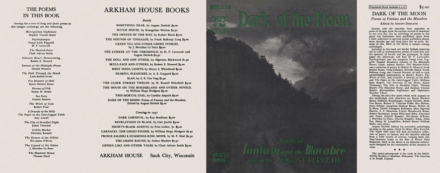 Dark of the Moon, Poems of Fantasy and the Macabre. August Derleth, Anthology