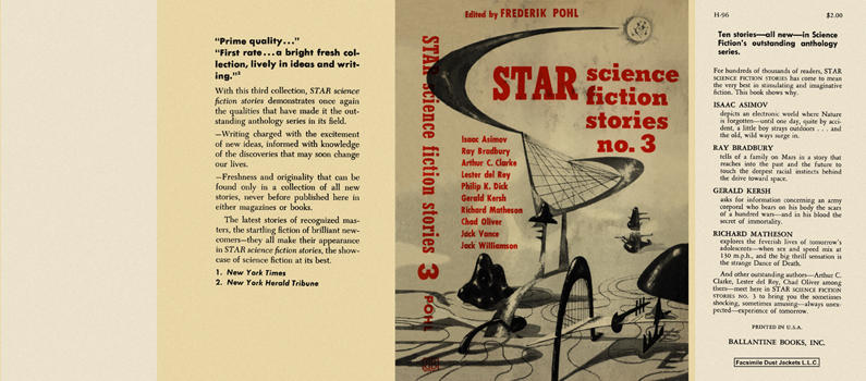 Star Science Fiction Stories No. 3. Frederik Pohl, , Anthology.