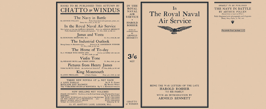 In the Royal Naval Air Service. Harold Rosher